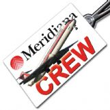 Meridiana MD82 Crew Tag